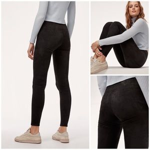 Aritzia Wilfred Daria Suede Leggings